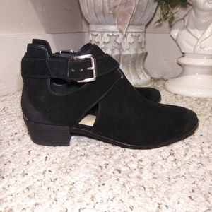 NWT Michael Kors Blk Suede Ankle Strap Bootie